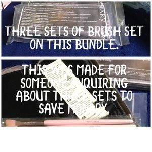 NWT EYE MAKEUP BRUSHES IN CASES THREE SET BUNDLE.